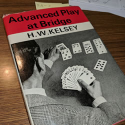 Photo of the book Advanced Play at Bridge by Hugh Kelsey