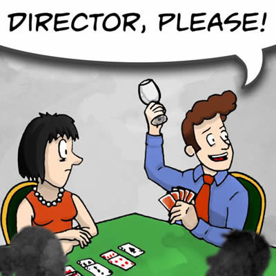 Humorous image of director call